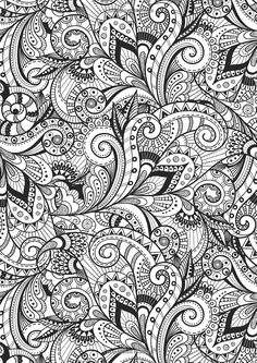Abstract Doodle Zentangle Paisley Coloring pages colouring adult detailed advanced printable Kleuren voor volwassenen coloriage pour adulte anti-stress kleurplaat voor volwassenen Creative Therapy: An Anti-Stress Coloring Book: Hannah Davies, Richard Merritt, Jo Taylor: 9780762458813: Books - Amazon.ca