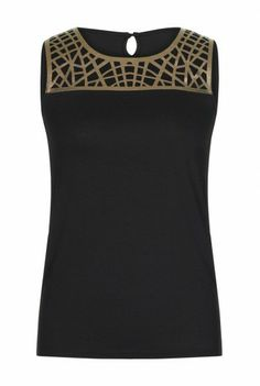 Cut Out Detail Jersey Top  at Long Tall Sally, your number one fashion retailer for tall women's clothing and footwear #tallgirls #tallwomen #tallfashion