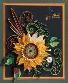 quilled sunflower idea