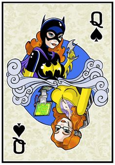 Queen of Spades  Batgirl Fan Art Print by ArtOfAnastasiaCatris, £5.00