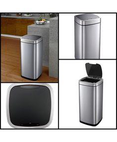 Сенсорное #ведро для мусора Не надо прикасаться к мусорному ведру и ничего нажимать, необходимо лишь поднести руку к сенсорному датчику и крышка ведра сама откроется, и закроется спустя 5-6 секунд. Ваши руки остаются чистыми