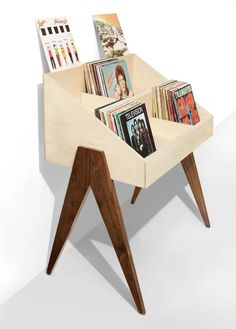 Flip through albums face first, just like the bins at the record store. The Atocha Design Record Stand is heirloom-quality furniture designed to show off your music. Retro Furniture, Cool Furniture, Furniture Design, Quality Furniture, Rustic Furniture, Antique Furniture, Luxury Furniture, Outdoor Furniture, Bedroom Furniture