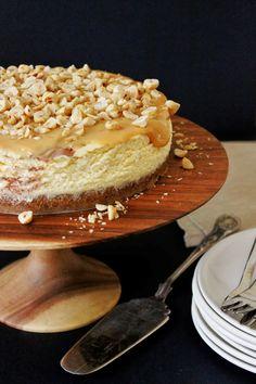 Dulce de leche cheesecake met hazelnoten