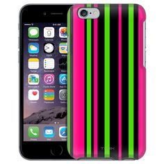 Apple iPhone 6 Pink Green Stripes Case