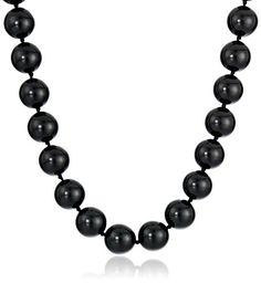 "Sterling Silver 12mm Black Onyx Bead Necklace, 17""+ 2"" ex... https://www.amazon.com/dp/B000YD7B78/ref=cm_sw_r_pi_dp_x_h1ExybAQG94BP"