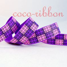 10 YD Purple And Pink Friends Blocks Grosgrain Ribbon Lego Friends Birthday, Lego Friends Party, Lego Birthday, Girl Birthday, Birthday Ideas, Pink Turquoise, Pink Purple, Pink And Green, Hot Pink