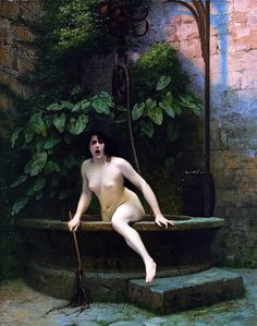 Reproduction Painting Jean-Leon Gerome Truth Coming Out of Her Well to Shame Mankind, Hand-Painted Reproductions Art Oil On Canvas Pierre Auguste Renoir, Coming Out, Moulin France, Jean Leon, Yennefer Of Vengerberg, Arte Obscura, Pre Raphaelite, Manet, Michelangelo