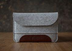 iPad mini RETINA case grey merino wool felt by cinnamoncocoon