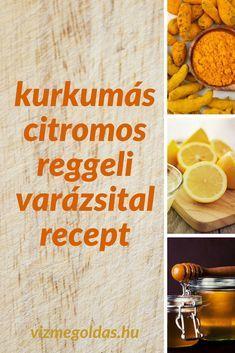 Egészséges reggeli - Kurkumás citromos reggeli ital recept Gym Workouts, Drinks, Health, Ethnic Recipes, Food, Cellulite, Lifestyle, Fitness, Tomatoes