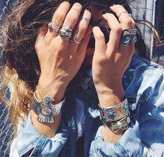 Jewelry bohemian boho style hippy hippie chic bohème vibe gypsy fashio