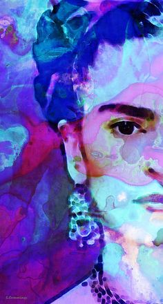 Dreaming Of Frida - Art By Sharon Cummings Painting by Sharon Cummings #fridakahlo #art #sharoncummings