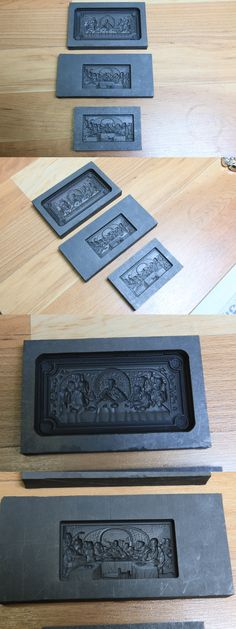Jewelry Molds 67711: Last Supper Jesus Religious Graphite Mold - Great For Gold Glass Lampwork Push -> BUY IT NOW ONLY: $75.0 on eBay!