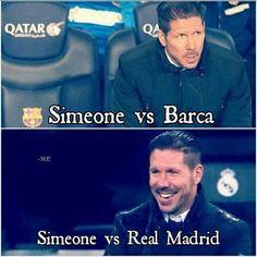 Mina kiedy trener Atletico Madryt gra z FC Barceloną i Realem Madryt • Diego Simeone z Barcą i Realem • Wejdź i zobacz więcej >> #football #soccer #sports #pilkanozna