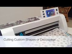 I was asked how to cut out a specific shape from a sheet containing several shapes of decoupage, In this video I try and show the process, using the direct c...