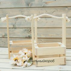 Buy or order a Flower box, flower boxes, a box of slats, wooden boxes in the online store at the Fair of Masters. With delivery in Russia and the CIS. Pallet Flower Box, Wooden Flower Boxes, Flower Box Gift, Pallet Boxes, Wood Boxes, Wood Projects That Sell, Small Wood Projects, Woodworking Projects That Sell, Diy Popsicle Stick Crafts