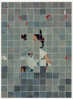 London based artist Anthony Gerace. Found faces jumbled up into new peek-a-booish composition.