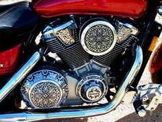 Engraved Motorcycle Engine!!  (Engraving by Otto Carter, Abilene, TX.  www.ottocarter.com)