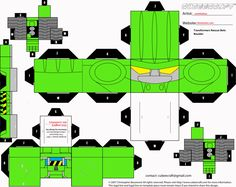 Rescue BOTS Boulder cubee template by ~lovefistfury on deviantART