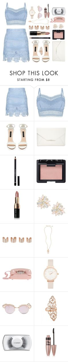 """""""- ̗̀ eyes like broken Christmas lights  ̖́-"""" by i-get-a-little-bit-breathless ❤ liked on Polyvore featuring Topshop, Lipsy, Forever New, Style & Co., Givenchy, NARS Cosmetics, Bobbi Brown Cosmetics, Cara, Maison Margiela and Olivia Burton"""