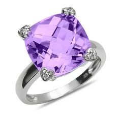 Etsy NissoniJewelry presents - Ladies' .04CT Diamond Fashion Ring with Amethyst Topaz in 10k White Gold    Model Number:CG-4899W077AM    https://www.etsy.com/ru/listing/289115077/ladies-04ct-diamond-fashion-ring-with
