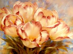 Champagne Red Tulips ~ Photographic Art