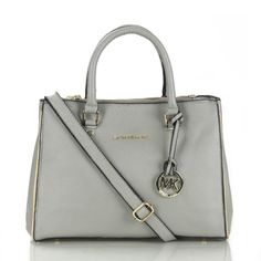 Michael Kors Sutton Saffiano Leather Large Grey Satchels only $72.99