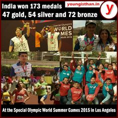India won 173 medals -- 47 gold, 54 silver and 72 bronze at the Special Olympic World Summer Games 2015 in Los Angeles.