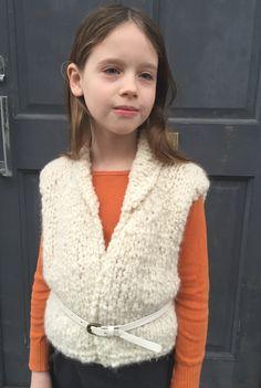 Debbie Bliss free pattern Mabel's Gilet , 3 balls of Lara . Chunky yarn for Autumn winter.