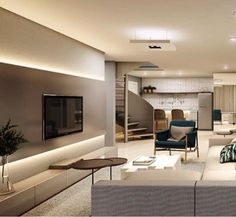 Apartment Interior, Living Room Interior, Living Room Decor, Living Room Wall Units, Living Room Designs, Bungalow House Design, Modern House Design, Muebles Living, Beautiful Interior Design