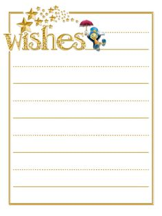 """Wishes - Project Life Journal Card - Scrapbooking. ~~~~~~~~~ Size: 3x4"""" @ 300 dpi. This card is **Personal use only - NOT for sale/resale** Logos/clipart belong to Disney. Font is Vanessa www.dafont.com/vanessa.font ***Click through to photobucket for more versions of this card with different titles :) ***"""