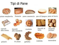Tipi di pane lessico pinterest for Tipi di serpenti nomi