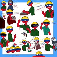 Read from the story Imágenes y Cómics de Countryhumans. Colombia Country, Chibi, Mundo Comic, Country Art, Hetalia, Bowser, Cartoon, My Love, Drawings
