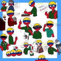 Read from the story Imágenes y Cómics de Countryhumans. Colombia Country, Chibi, Mundo Comic, Shugo Chara, Country Art, Hetalia, Bowser, Cartoon, My Love