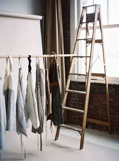 "Aprons | Ladder | Kinfolk mag ""on set with our favourite aprons"" Tec Petaja"