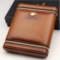 COHIBA Leather Cedar Lined 6 Tube Cigar Case Humidor W/ Humidifier Fine Leather 6 Cedar wood brand new elegant and modern designConvenient size easy Cigar Club, Cigar Bar, Modern Gentleman, Gentleman Style, Pu Leather, Black Leather, Cigar Cases, Cigar Lighters, Man Cave Home Bar