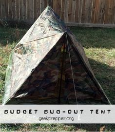Is it asking too much to have a tent that isn't florescent colors and doesn't cost a fortune? Budget Bug-Out tent - geekprepper.org