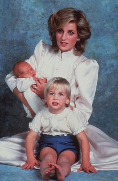 My Daily:  1984  Princess Diana with her sons Prince Harry and Prince William