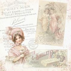 Free Printables - vintage card topper - victorian lady.