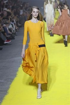 Sonia Rykiel Spring 2012  Love this yellow!