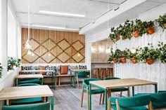 decoracion de pequeños restaurantes con plantas - Buscar con Google