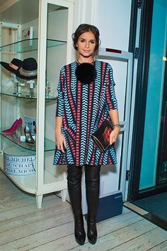 Miroslava Duma in Balenciaga Dress