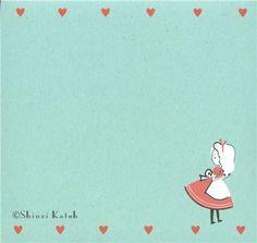 "Shinzi Katoh, ""Alice in Wonderland"" memo pad illustration"
