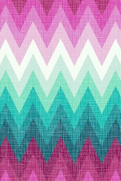 PINK mint and white ombre chevron   phone wallpaper ♥♥♥♥♥♥♥