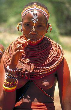 Africa | A Samburu girl richly adorned, northern Kenya | © Roger Blum