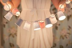 #DIY: String of Lights with paper cups