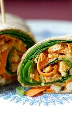 Low FODMAP and Gluten Free Recipe - Spicy chicken wraps     -- http://www.ibssano.com/low_fodmap_recipes_spicy_chicken_wraps.html