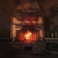 #fire #fireplace #chimney #oldhouselove #hunted #huntedhouse  #art3dd #kadamin #looped #animation #3d #animation #oldwork #freelance #romantic #madeinpoland