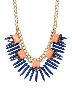 Nina Spiked Fringe Necklace on HauteLook