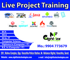 Live Project Training for BCA, MCA, Msc.IT, BSc.Computer Science