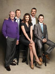 Family Business: The cast of Blue Bloods- Tom Selleck, Bridget Moynahan, Donnie Wahlberg, Will Estes, and Len Cariou- photographed by Patrick Demarchelier for Watch! Magazine.